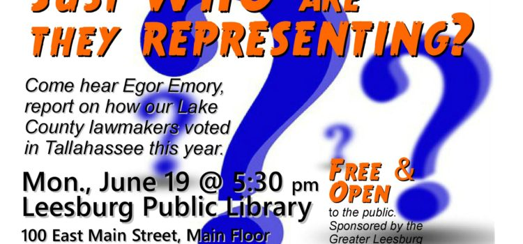 Just Who Are They Representing?: Egor Emory reports on Lake County Lawmakers, June 19, 2017