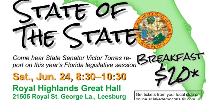 State of the State Breakfast with Guest State Senator Victor Torres
