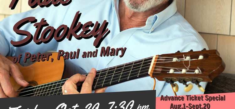REDUCED PRICES EXTENDED TO OCT. 1! – Lake County Democrats Present Noel Paul Stookey of Peter, Paul & Mary Oct. 20th