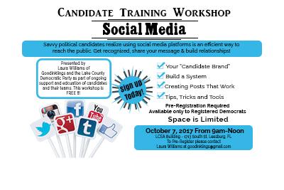Lake County Democratic Candidates Social Media Workshop- Oct. 7, 2017
