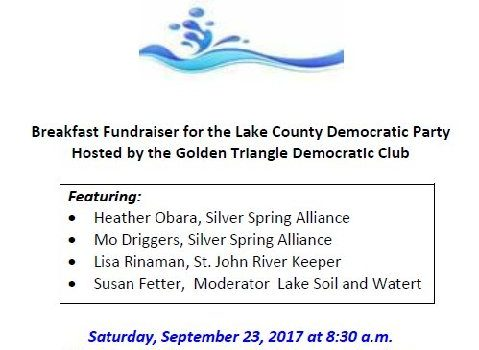 Golden Triangle Democratic Club Hosts the Water, Water: The Past Present Future Breakfast- 9/23/17